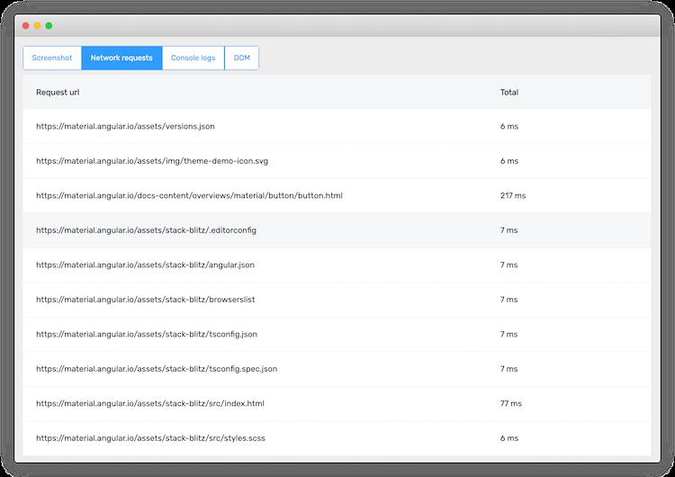Screenshots, logs and more